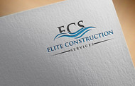 Elite Construction Services or ECS Logo - Entry #167