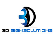 3D Sign Solutions Logo - Entry #168