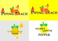 Piping Peach, Honey Lemon Pepper Logo - Entry #30