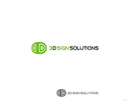 3D Sign Solutions Logo - Entry #159