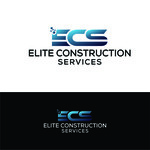 Elite Construction Services or ECS Logo - Entry #160