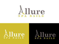 Allure Spa Nails Logo - Entry #109