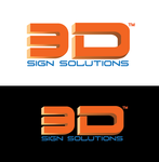 3D Sign Solutions Logo - Entry #64