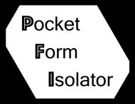 Pocket Form Isolator Logo - Entry #110