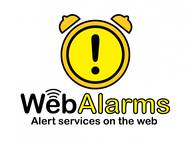 Logo for WebAlarms - Alert services on the web - Entry #130