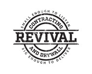 Revival contracting and drywall Logo - Entry #28