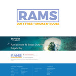 Rams Duty Free + Smoke & Booze Logo - Entry #258