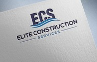 Elite Construction Services or ECS Logo - Entry #187