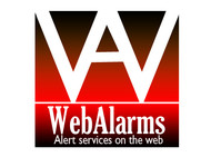 Logo for WebAlarms - Alert services on the web - Entry #11