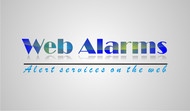 Logo for WebAlarms - Alert services on the web - Entry #75