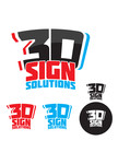 3D Sign Solutions Logo - Entry #34