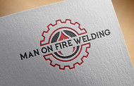 Man on fire welding Logo - Entry #1