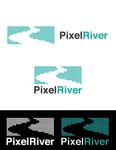 Pixel River Logo - Online Marketing Agency - Entry #2