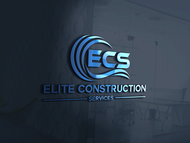 Elite Construction Services or ECS Logo - Entry #130