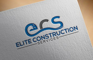 Elite Construction Services or ECS Logo - Entry #348