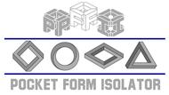 Pocket Form Isolator Logo - Entry #54