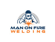 Man on fire welding Logo - Entry #57