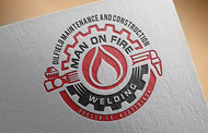 Man on fire welding Logo - Entry #21