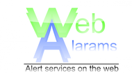 Logo for WebAlarms - Alert services on the web - Entry #79