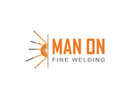 Man on fire welding Logo - Entry #54