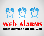 Logo for WebAlarms - Alert services on the web - Entry #145