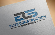 Elite Construction Services or ECS Logo - Entry #184