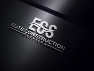 Elite Construction Services or ECS Logo - Entry #219
