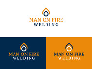 Man on fire welding Logo - Entry #66