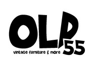 """""""OLD 55"""" - mid-century vintage furniture and wares store Logo - Entry #185"""