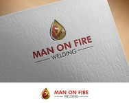 Man on fire welding Logo - Entry #52