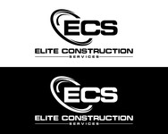 Elite Construction Services or ECS Logo - Entry #214