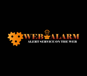 Logo for WebAlarms - Alert services on the web - Entry #190