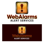 Logo for WebAlarms - Alert services on the web - Entry #125
