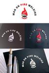 Man on fire welding Logo - Entry #51