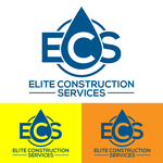 Elite Construction Services or ECS Logo - Entry #100
