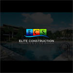 Elite Construction Services or ECS Logo - Entry #331