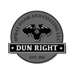 Dun Right Spray Foam and Coating LLC Logo - Entry #93