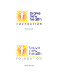 Brave New Health Logo - Entry #62