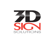 3D Sign Solutions Logo - Entry #185