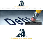 The Debt What If Calculator Logo - Entry #44