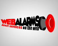 Logo for WebAlarms - Alert services on the web - Entry #107
