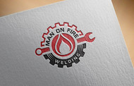 Man on fire welding Logo - Entry #4