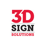 3D Sign Solutions Logo - Entry #133