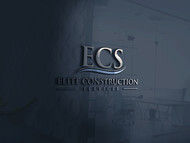 Elite Construction Services or ECS Logo - Entry #339
