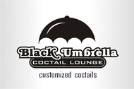 Black umbrella coffee & cocktail lounge Logo - Entry #180