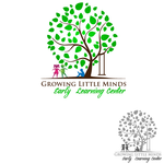 Growing Little Minds Early Learning Center or Growing Little Minds Logo - Entry #74