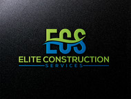 Elite Construction Services or ECS Logo - Entry #217