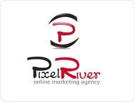 Pixel River Logo - Online Marketing Agency - Entry #147