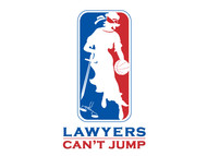 "charity basketball event logo (name with logo is ""lawyers can't jump"") - Entry #36"