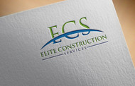 Elite Construction Services or ECS Logo - Entry #118